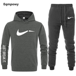 Мужской спортивный костюм онлайн-Men's Tracksuit 2 sets of new fashion jacket sportswear men's sweatpants hoodies spring and autumn  hoodies pants