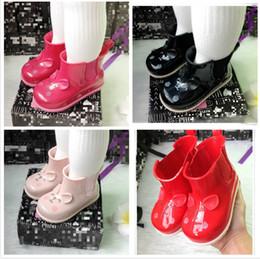 2019 botas de lluvia zapatos de lluvia Niños caricatura botas de lluvia moda melissa jelly zapatos estudiante niños botas de agua antideslizantes bebé niños zapatos moda niñas zapatos al aire libre F4318 rebajas botas de lluvia zapatos de lluvia