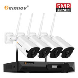 Einnov 5MP H.265 Kablosuz Wifi CCTV Kamera Sistemi ip 4CH Video Gözetim Kiti NVR Güvenlik CCTV 2 TB HDD Ile Set Sabit Disk cheap wifi hard disks nereden wifi sabit diskler tedarikçiler