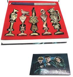 Canada Nouveau Rétro Harry Potter Cire Sceau Timbre Cosplay Prop Cadeau Magique Poudlard École Badge Motif Joints De Noël Cadeau Jouet supplier waxing stamps Offre