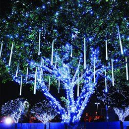 2020 lumières de tube de pluie de douche 30 CM Led Meteor Douche Tube De Pluie Guirlande Extérieure Lumière Chaîne Décor de Noël pour La Maison Ornement De Noël Navidad Natal Nouvel An promotion lumières de tube de pluie de douche