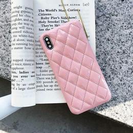 Per il nuovo iPhone 11 pro max 7 8 più il caso della copertura posteriore in pelle PU per iPhone X XR XS MAX elemento di design di lusso di trasporto di goccia da apple iphone 4s blu fornitori