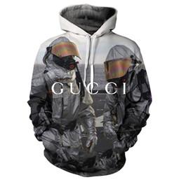 hoodies azuis do golfinho Desconto Gucci sportswear 2020 camisola de mangas compridas com capuz Mens Hoodie roupas de grife personalidade padrão de impressão da mulher do desenhador do hoodie tendência da mod