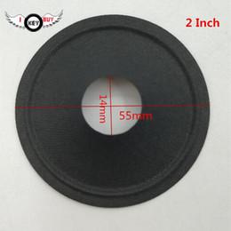 alto falante Desconto 2 PCS Preto Speaker Cones 2 polegadas Pequenas Tweeter Acessórios Cones 55 MM 14 MM 10 Speaker Reparo Acessórios carro DIY