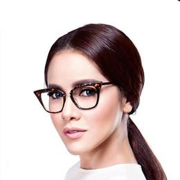 79f773346 Elegante Elegante Preto Cat Eye Mulheres Óculos Lente Clara Espetáculo de Óculos  Moda Feminina Óculos de Sol Vidros Ópticos Vidros barato olhos óculos ...