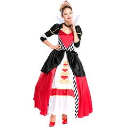Costumi poker online-Costume da Halloween per donne nuove Sexy Red Heart Poker Regina Carnevale Costume di Natale Regina Uniforme di gioco