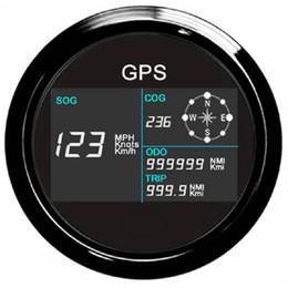 Lcd rétro-éclairage en Ligne-Nouveau 7 feux arrière 85mm bateau voiture GPS compteur de vitesse numérique LCD jauge de vitesse compteur kilométrique cours avec antenne GPS