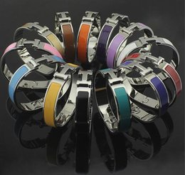 diamond gold bangles for wedding Coupons - Top Quality brand Fashion Design stainless steel silver black white brown orange green red bangles bracelets for Women men never fade