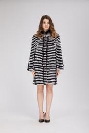 Argentina Dama mujer real rex piel de conejo color de la capa de chinchilla outwear mullido peludo invierno mujer con forro de lana Suministro
