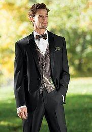 Vestiti unici adatti online-Camouflage unico uomo abiti da uomo Blazer floreale Disegni Smoking da sposa Slim Fit Abiti da uomo (giacca + pantaloni + gilet)