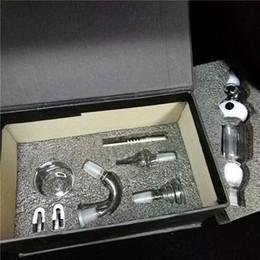 vetro unità Sconti Set di raccoglitori di nettare bianco Aggiornato il bong di vetro per unghie in titanio per il chiodo di vetro unità di paglia di miele, spedizione gratuita