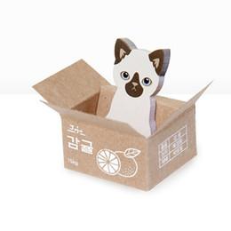 Muy lindo gato Almohadillas pegatinas Notas adhesivas papel de escritura Bloc de notas Kawaii papelería Suministros de Oficina Notas 1 unids desde fabricantes