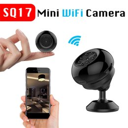 câmera de vídeo h2 Desconto SQ17 Mini 4K WiFi IP 480P / 720P / 1080P Câmera 4K Visão noturna Câmera de vigilância em segurança doméstica Suporte TF Estender para 128GB