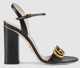 Camouflage talons pour les femmes en Ligne-Chaussons Femme Sandales Chaussures À Talons En Cuir Véritable Diapositives En Cuir TOP Des Sandales De Qualité Supérieure Des Sandales Huaraches Mocassins Aux Poils Pour Femme
