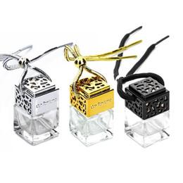 Bouteilles de parfum en verre de forme carrée pendentif 6ml de parfum suspendu vide diffuseur de voiture suspendue bouteille DHL 637 ? partir de fabricateur