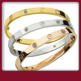 Top luxe amour vis bracelets bracelet en acier inoxydable avec des bracelets de tournevis diamants pour les hommes bijoux de créateurs avec sac d'origine ? partir de fabricateur