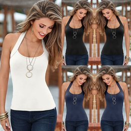 Blusa sem mangas sem costas on-line-Mulheres Sexy Moda Summer Vest Top Blusa Sem Mangas Casual Backless Tank Tops
