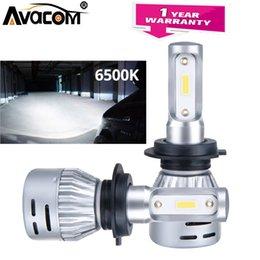2019 ventilateur pc 12v Avacom 2 pcs LED H11 H8 12V antibrouillard pour voiture 6500K blanc 12000Lm DOB puce 72W 9005 HB3 9006 HB4 ventilateur de brouillard Turbo Fan automatique ventilateur pc 12v pas cher