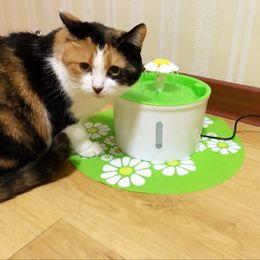 automatische haustiergetränkspender Rabatt Automatische Katze Hund Elektrische Pet Trinkbrunnen Pet Bowl Trinkwasserspender Getränkefilter Cat Feeding Feeder Product