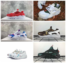 Gucci nike Erkekler Kadınlar Için 2018 Hava Huarache Gökkuşağı Koşu Ayakkabı, hafif Huaraches Ünlü Marka tasarımcısı Huraches Spor Sneakers Eur 36-46 cheap shoes man famous brand nereden ayakkabı adam ünlü marka tedarikçiler