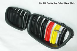 Due righe ABS Coloer Carbon black Grille Fit per BMW 5-Series F10 F18 M5 520i 528i da