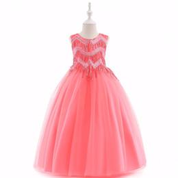 Pageant robes de fille de fille de pastèque douce rose bleu bébé robes fille princesse robes jupe enfant fait sur commande 2-14 H317455 ? partir de fabricateur