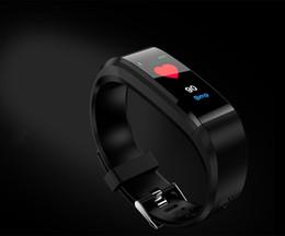 vigilanza della cella all'ingrosso Sconti Commercio all'ingrosso 115plus intelligente orologio pedometro inseguitore di pressione sanguigna Smartwatch Bluetooth Wristband per IOS iPhone Apple Android Cell Phone