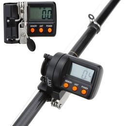2019 líderes de aço inoxidável 999.9m Digital Display Pesca Linha Contador para a pesca Pesca Linha alimentador eletrônico Profundidade do Finder Contador enfrentar