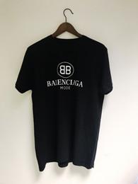 Tshirt a buon mercato online-Nuovo Logo 7676Balenciaga modalità nero top famoso marchio Casual Maglietta unisex a buon mercato all'ingrosso Tee T-shirt all'ingrosso a buon mercato