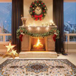 placa de pano de fundo Desconto Foto Estúdio Fotografia Fotográfica Adereços Backdrop Board 3D Papai Noel Fundo Decor Natal