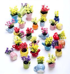 2019 vases en bois Mignon mini Vases Fleur Artificielle Balcon Coloré Fleurs Sèches Style Européen Vase originalité Pot De Fleurs Maison chambre Décor