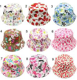 Children fitted hats en Ligne-mélanger 30 couleurs coréenne mignonne enfants chapeau de pêcheur Sunshine décontracté designer casquettes enfants fleur imprimé coton seau chapeau bébé chapeaux équipée chapeau
