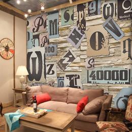 Argentina Papel pintado 3D Vintage Carta Pegatinas de pared Murales gigantes para cafeterías Bares Fondo KTV Europa Estilo Tatuajes de pared Suministro