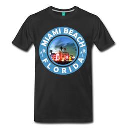 Magliette divertenti T-shirt da uomo girocollo Graphic S originale Sconto novità B Friend Miami Beach Florida T Shirt da