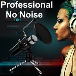 Usb sta online-Microfono a condensatore professionale per computer portatile USB Plug PC + Stand Studio Recording Podcasting Microfone Karaoke Mic