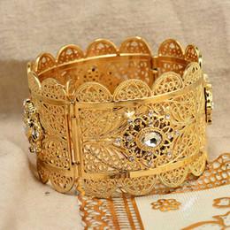 2020 pulseras de oro blanco 24k Annayoyo 24K moda de lujo de Dubai piedra blanca de oro del color para las muchachas de las mujeres / de la boda de novia etíope regalos pulsera árabes elegantes pulseras de oro blanco 24k baratos