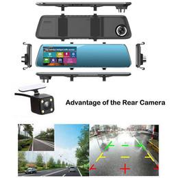 registratore mp4 sd Sconti HD 1080p con doppio obiettivo DVR del precipitare dell'automobile della camma macchina fotografica del registratore di Vison di notte dell'automobile DVR Rear View Camera Camcorder 3B03