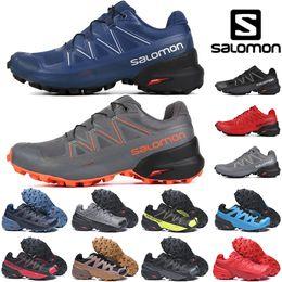 Zapatos impermeables para correr online-2019 Nuevo Salomon Speedcross 5 CS para hombre Zapatillas de deporte para hombre Zapatillas de deporte de alta calidad Zapatillas deportivas deportivas impermeables para correr