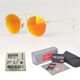 1f069bb103 High Quality Metal Frame uv400 Glass Lens Sunglasses Women Men Brand  Designer Eyewear Round driver Sun Glasses With Original case and label