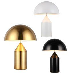2019 lotus lumière bouddha Chambre minimaliste moderne lumière table lumière nordique personnalité créatrice lampe de table champignon doré noir éclairage de bureau