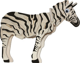Juguetes gratis modelos 3d online-Envío gratis --- Rompecabezas de madera Modelo de simulación en 3D Animales DIY Estéreo Rompecabezas para niños Unisex Hand Puzzle ToyS