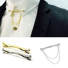 3ebdab39491a Los hombres con estilo Camisa Tie Collar Clip Clip Bar Pin Clip Cadena Tie  Broche Corbata de Plata Liso Metal Francés Tie Clip Joyería Barato al por  mayor