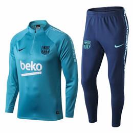 d0c103d97c5a3 Venta al por mayor 18 19 Barcelona chándales 2019 FCB verde ropa deportiva  Coutinho camisetas de fútbol Messi manga larga media zippe trajes de ...