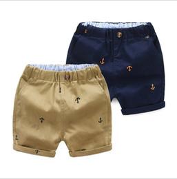 Cintura elástica para meninos on-line-Calções crianças verão venda quente cintura elástica calças curtas de algodão crianças crianças menino casual cinco calças