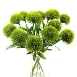 Fiore artificiale per tavoli da decorazione online-unico stelo di tarassaco Fiori artificiali leone fiore di plastica di lunghezza decorazioni di nozze circa 25cm Tabella Centrotavola MMA1826-6