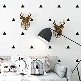 sfondi sfondi neri Sconti Nordic Black Triangle Geometric Pattern Wallpaper Modern White soggiorno camera da letto impermeabile TV sfondo sfondi decorativi