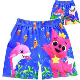 I pantaloni di squali dei ragazzi online-Ragazzi Designer Swim Trunks Baby Shark Board Shorts Cartoon Swimwear 3 design pantaloni da spiaggia corti KKA6985