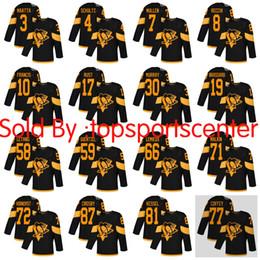 Pittsburgh da uomo di grandi dimensioni 5XXXXXL Pinguini # 87 Crosby 71 Malkin 81 Kessel # 58 Letang 3 Maatta 59 Guentzel 30 Murray 68 Jagr Stitched jerseys da