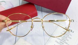 Argentina Nuevo diseñador de hombres marco de forma redonda chapado en oro estilo retro vintage Ca 0016 unisex estilo exterior prescripción óptica cheap round prescription frames Suministro