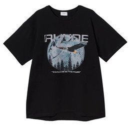 T-shirt limitate online-T-shirt 19SS Uomo Donna 1r: 1 RHUDE Chicago Limited Eagle T Shirt con stampa stile estivo RHUDE Top Tees